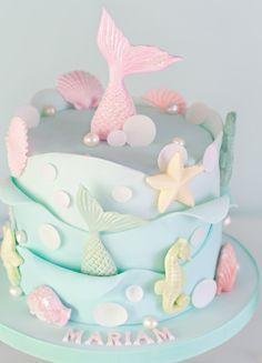Mermaid Birthday Cakes, Cute Birthday Cakes, Mermaid Cakes, Girls 2nd Birthday Cake, Kids Birthday Themes, Cake Wrecks, Sirenita Cake, Bolo Diy, Gateau Baby Shower