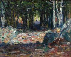 """Kaelin's Woods,"" Charles Salis Kaelin, oil on board, 12 x 16"", Cincinnati Art Galleries."