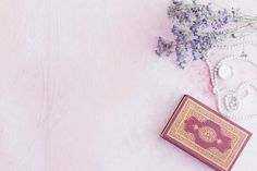 Koran book with small purple flowers Free Photo Small Purple Flowers, Quran Book, Saint Coran, Photoshop, Islamic Pictures, Holy Quran, Free Photos, Holi, Beautiful Flowers