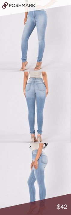 NWT Fashion Nova Top-Seller Light Wash AS SEEN ON CELEBRITIES ✨ Fashion Nova Top-Seller jeans! These are the light wash, seen on Kardashians and Amber Rose. They fit amazingly, although their return policy kind of sucks and they are a but too snug. Price is firm bc I want money back or a size 11! Size 9 ➡️ 28W! NOT FROM LISTED BRAND American Apparel Jeans Skinny