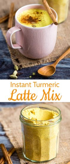 A quick and easy way to make an instant turmeric latte, also known as golden milk, or golden mylk. Rich, tasty and dairy free. Make in seconds without the need for a pan or microwave. Tumeric Latte, Turmeric Milk, Golden Milk Latte, Best Nutrition Food, Turmeric Recipes, Latte Recipe, Milk Recipes, Health Recipes, Paleo Recipes