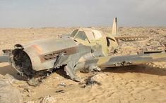 WWII fighter plane hailed the 'aviation equivalent of Tutankhamun's Tomb' after being found preserved in the Sahara. From the Telegraph.