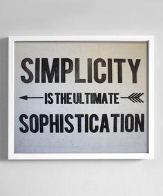 'Simplicity' Print