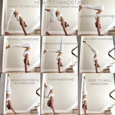 How to handstand - try these pre exercises out Yoga N. How to handstand - try these pre exercises out. -Yoga N. How to handstand - try these pre exercises out. Alo Yoga, Yoga Gym, Beginner Yoga, Yoga Poses For Beginners, Advanced Yoga, Ashtanga Yoga, Kundalini Yoga Poses, Yoga Fitness, Health Fitness
