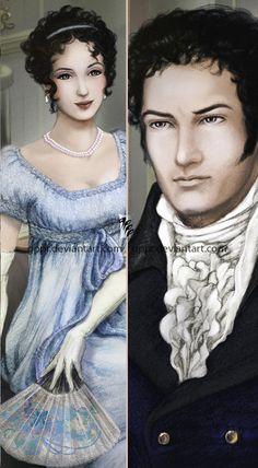 Darcy and Elizabeth - detail by =gppr on deviantART