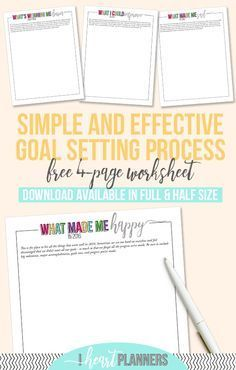 Goal Setting Printables | Reflect and set intentional goals | Full and Half Size #Printable