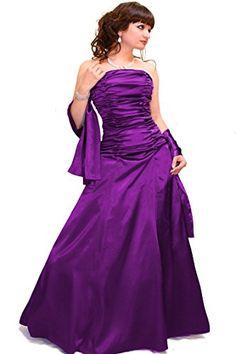 Kleid Dress Damen Abendkleid Partykleid Cocktailkleid Brautkleid Hochzeitskleid Ballkleid Festkleid Satin Bodenlang div. Farben Größen Juju & Christine (34, Lila) JuJu & Christine http://www.amazon.de/dp/B00JMJM1PW/ref=cm_sw_r_pi_dp_COeTub1D9KAZ1
