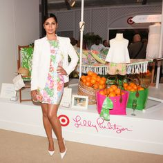 Camila Alves at the Lilly Pulitzer for Target Launch. See the other celebrities on the mid-April party scene and what they wore.