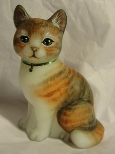 Fenton Natural Calico Tabby Kitten Sitting Cat Beautiful OOAK by CC Hardman | eBay