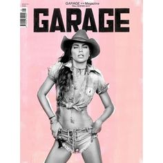 Adriana Lima is a Sexy Cowgirl for Garage's F/W 2013 Cover ❤ liked on Polyvore featuring fillers, accessories, girls, magazine i magazine cover