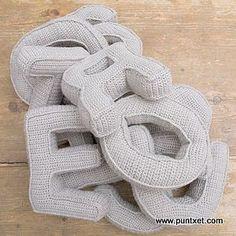 Patrón de abecedario de ganchillo #amigurumis #crochet #ganchillo