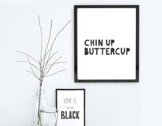 Created by our in-house designer, this lighthearted typographic print is perfect to brighten any room.