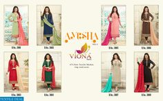 VIONA AAYESHA-3 SUPPLIER STRAIGHT LONG SUITS Catelog pieces: 8 Full Catelog Price: 9200 Price Per piece: 1150 MOQ: Full catalog Shipping Time: 4-5 days Delivery: Ready to dispatch Sizes: Semi Stich Fabrics Detail Top :- heavy Georgette With Embroidery  Bottom & inner :- santoon Dupatta :- heavy torre brasso with lace #nicecollection  #goodmateriel  #awesomelook Call&Whatsapp;+917405434651 website link :-http://textiledeal.in/wholesale-product/4455/Viona-aayesha-3-supplier-Straight-long-Suits
