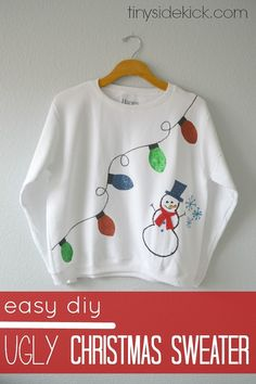 The shirt green. http://www.fashionnewswebsites.com/category/xmas-sweater/ 10 DIY Ugly Christmas Sweaters for the Holidays - thegoodstuff