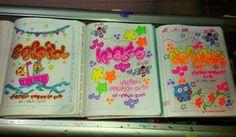 Marcamos tus cuadernos! No olvides traer tus cuadernos con mínimo un día de anticipación! Whatsap - dulceamor17 Up Halloween, Notebook, Bullet Journal, Lettering, Words, How To Make, Diy, Memes, Decorated Notebooks
