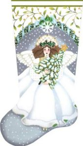 Today on Stitch Style I'm sharing Melissa Shirley's Winter White Angel. She was my birthday present to myself while we were at market. How could not?!
