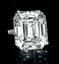 Graff 50.01 carat rectangular-cut D-color, potentially flawless diamond ring, sold for a staggering $8,370,500.00 or $167,400.00 per carat.  Not too surprisingly, the Graff diamond ring was bought back by none other than its creator, Laurence Graff.