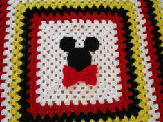 Mickey Mouse or Minnie Mouse Crochet Blanket Pattern, Crochet Afghan Pattern, Stroller Blanket, Instructions to make it ANY size!