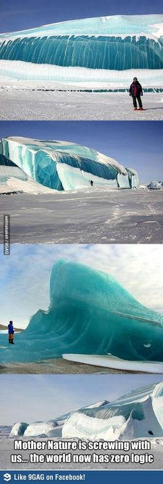 Funny pictures about Magnificent Frozen Waves. Oh, and cool pics about Magnificent Frozen Waves. Also, Magnificent Frozen Waves photos. All Nature, Science And Nature, Amazing Nature, It's Amazing, Amazing Photos, No Wave, Oh The Places You'll Go, Places To Travel, Travel Things