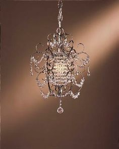 Our bathroom mini chandelier that'll go over the whirlpool tub.