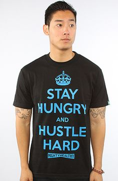 0fb375ab7a The Hustle Hard Tee in Black by Mighty Healthy 20% off with repcode  FRESHYFRESH19 at Karmaloop.com
