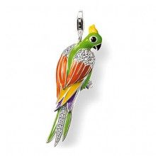 Check out the deal on Thomas Sabo Parrot Pendant with Lobster Clasp at Precious Accents, Ltd. Thomas Sabo, Colorful Parrots, Cute Charms, Elegant Watches, Silver Enamel, Pandora Jewelry, Silver Charms, Bunt, Sterling Silver Jewelry