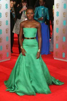 Lupita Nyong'o. | All The Fashion At The 2014 BAFTAs