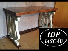 Custom desk with concrete legs and reclaimed wood top