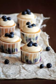 Blueberry Cream Cheese Cupcakes - Cupcake Daily Blog - Best Cupcake Recipes .. one happy bite at a time! Chocolate cupcake recipes, cupcakes...