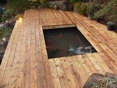 Inspiring DIY Garden Ideas That Promotes Peace Decking Pond. Big Garden, Backyard Garden Design, Koi Pond Design, Front Deck, Outdoor Living, Outdoor Decor, Garden Ideas, Pond Ideas, Landscape
