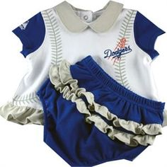 Dodgers Infant Girl Top and bloomer a60f68ad9f2