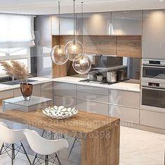 Modern Kitchen Design, Interior Design Kitchen, Design 3d, House Design, 3d Max, English Grammar, Home Decor Kitchen, Ss, Sweet Home