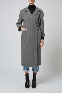 Houndstooth Duster Coat by Boutique | TOPSHOP