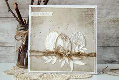 INSPIRACE: Nádherná velikonoční přání od Deny. Vystačíte si jen s minimem materiálu :-)