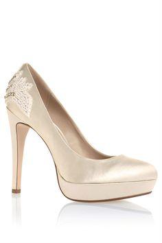 Women's Shoes - Next Beaded Back Platform Courts - EziBuy New Zealand #shoes