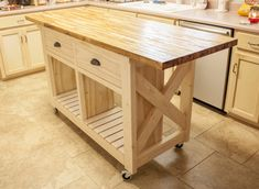 Double kitchen island with butcher block top   Ana White Kitchen Island With Drawers, Kitchen Island With Butcher Block Top, Mobile Kitchen Island, Kitchen Island Storage, Rolling Kitchen Island, Farmhouse Kitchen Island, Kitchen Island Table, Modern Kitchen Island, Kitchen Island With Seating