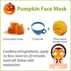 Give yourself a natural and inexpensive facial mask at home. This pumpkin face mask will leave your skin glowing and smooth, and need just three ingredients.