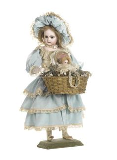 Leopold Lambert musical automaton of a little girl with flower basket
