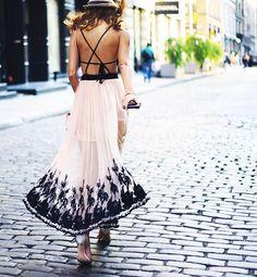 9 Dresses With Beautiful Crisscross Backs via @WhoWhatWear
