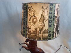 vintage  ROY  ROGERS/DALE EVANS breyer woodgrain fighting stallion  lamp #HORSEBREYERLAMPUNKNOWN