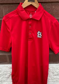 Cutter and Buck St Louis Cardinals Mens Red Fairwood Short Sleeve Polo - 13490632 St Louis Cardinals, Great Books, Blues, Polo, Shirts, Men, Shopping, Collection, Polos