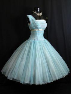 Vintage 50s Fred Perlberg Chiffon Party Dress