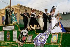Last year's Peanut Festival Court float makes its way down C Street during the parade in Floresville. The 70th annual Floresville Peanut Festival is just around the corner.