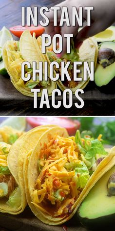 Instant Pot Chicken Tacos - the chicken comes out so juicy and flavorful! #instantpot #chicken #tacos #recipe