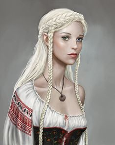 f Half Elf Noble wizard daughter community portrait Kseniya McWunbee by dashinvaine.deviantart.com on @DeviantArt