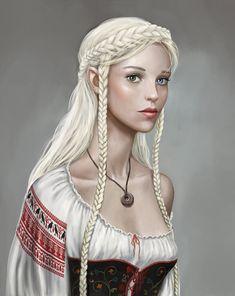Half Elf Noble wizard daughter community portrait Kseniya McWunbee by on Elfen Fantasy, Fantasy Rpg, Medieval Fantasy, Fantasy Portraits, Character Portraits, Fantasy Artwork, Dnd Characters, Fantasy Characters, Female Characters