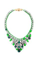 Shop now: Shourouk Mini Theresa Necklace in Green