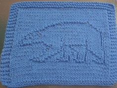 DigKnitty Designs: Polar Bear Knit Dishcloth Pattern