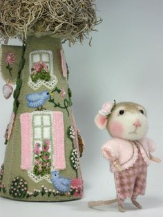 Very adorable.   Nice workmanship!  http://www.etsy.com/listing/94026852/dressed-mousebunny-class-needle-felting