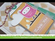 ▶ Lawn Fawn August 2014 Inspiration Week | You're A Hoot + Thank You Tags - YouTube